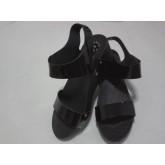 รองเท้าแตะรัดส้นแฟชั่น สีดำ ส้นเตารีด น่ารัก