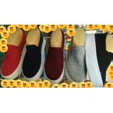 รองเท้าผ้าใบ เสริมส้น สไตล์เกาหลี  ผู้หญิง  คัชชูไม่ผูกเชือก