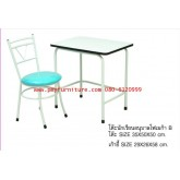 pmy2-18 โต๊ะเก้าอี้นักเรียน อนุบาล หน้าโฟเมก้า B