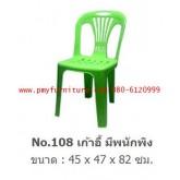 pmy20-22 เก้าอี้พลาสติกมีพนักพิง เกรด A NO.108