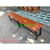 pmy19-10 ม้านั่งระแนงไม้สักหน้า 4 ยาว 180 ซม.