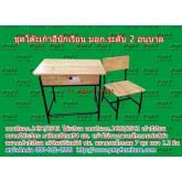 pmy1-4 โต๊ะ-เก้าอี้นักเรียน มอก.ระดับ2(อนุบาล) แบบขาสีดำ