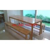 pmy5-27 ชุดโต๊ะโรงอาหารไม้ยางพาราทั้งตัว ระดับประถม มัธยม