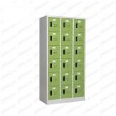 pmy14-13 ตู้ล็อคเกอร์ แบบ 18 บานประตู สีเขียว