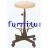 เก้าอี้บาร์กลมหนัง ขาเหล็กพ่นสี มีล้อ kkw6-5