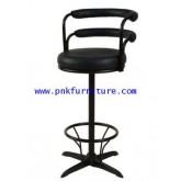 เก้าอี้บาร์กลมมีพนักพิงหนัง kkw6-10