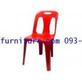 kkw5-25 เก้าอี้พลาสติกมีพนักพิง เกรด A  No.152