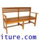 เก้าอี้สนาม, ม้านั่งสนามไม้มีท้าวแขน+พนักพิงหลัง kkw14-10