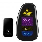 เครื่องวัดอุณหภูมิและความชื้น พร้อมฟังชั่นตั้งเวลา สีดำ
