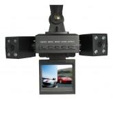 กล้องติดรถยนต์ 2 ตัวพร้อม LED อินฟาเรด และระบบ Motion Detection สีดำ