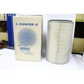 ไส้กรองอากาศ POWER-S สำหรับ รถบรรทุก ฮีโน่ HINO FM2K ลูกนอก (17801-2490) อะไหล่แท้ (รหัส PSA-972-S)