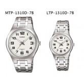 นาฬิกา Casio เซ็ทคู่ ชาย-หญิง MTP-1310D-7B คู่กับ LTP-1310D-7B