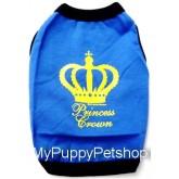 +++หมดค่ะ+++เสื้อสุนัขและแมว Princess Crown สีน้ำเงิน ไฮโซจริงๆ (เบอร์ 2)