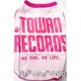 +++หมดค่ะ+++เสื้อสุนัขและแมว Tawan Record สีชมพู น่ารัก สดใส (เบอร์ 4)