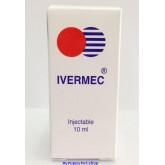 IVERMEC 1.50 เปอร์เซนต์ ยาฉีดกันพยาธิหนอนหัวใจ รักษาขี้เรื้อน เห็บหมัดและไรหู 10 ml