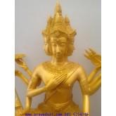 เทวบูชา พระพรหม 12 นิ้ว พ่นทอง