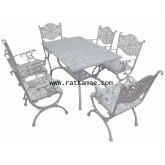 ชุดอัลลอยด์ณรงค์ 6 ที่นั่ง สีขาว [เขตกรุงเทพฯและปริมณฑล ส่งฟรี]