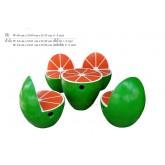 ชุดหินลายผลไม้กลางส้มเขียวหวาน