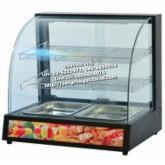 ตู้อุ่นอาหาร (ตู้อุ่นร้อน) ตะแกรง 2 ชั้น รุ่นใหม่ (สีดำ)