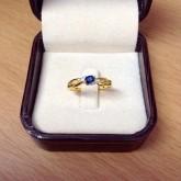 แหวนเพรแท้ พลอยแท้ งานน่ารัก ราคา 4300 บาท (rg1318)