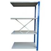 ชั้นวางสต๊อกสินค้า micro rack ไมรโครแร็คMi401501804N ลึก400xกว้าง1500xสูง1800 มม.4ระดับชั้น(ชุดต่อ)