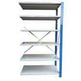 ชั้นวางสต๊อกสินค้า micro rack ไมรโครแร็คMi401501806N ลึก400x1500x1800 มม.6ระดับชั้น(ชุดต่อ)