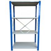 ชั้นวางสต๊อกสินค้า micro rack ไมรโครแร็คMi401502004F ลึก400x1500x2000 มม.4ระดับชั้น(ชุดต้น)