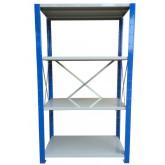 ชั้นวางสต๊อกสินค้า micro rackไมรโครแร็คMi401502204F ลึก400x1500x2200 มม.4ระดับชั้น(ชุดต้น)