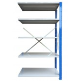 ชั้นวางสต๊อกสินค้า micro rackไมรโครแร็คMi401502205N ลึก400x1500x2200 มม.5ระดับชั้น(ชุดต่อ)