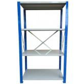 ชั้นวางสต๊อกสินค้า micro rackไมรโครแร็คMi501502004F ลึก500x1500x2000 มม.4ระดับชั้น(ชุดต้น)