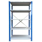 ชั้นวางสต๊อกสินค้า micro rackไมรโครแร็คMi501502205F ลึก500x1500x2200 มม.5ระดับชั้น(ชุดต้น)