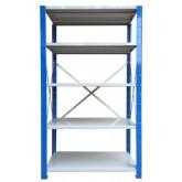 ชั้นวางสต๊อกสินค้า micro rackไมรโครแร็คMi401802005F ลึก400x1800x2000 มม.5ระดับชั้น(ชุดต้น)