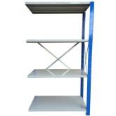 ชั้นวางสต๊อกสินค้า micro rackไมรโครแร็คMi401802204N ลึก400x1800x2200 มม.4ระดับชั้น(ชุดต่อ)