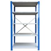 ชั้นวางสต๊อกสินค้า micro rackไมรโครแร็คMi401802205F ลึก400x1800x2200 มม.5ระดับชั้น(ชุดต้น)