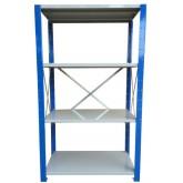ชั้นวางสต๊อกสินค้า micro rackไมรโครแร็คMi501801804F ลึก500x1800x1800 มม.4ระดับชั้น(ชุดต้น)