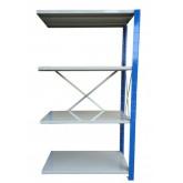 ชั้นวางสต๊อกสินค้า micro rackไมรโครแร็คMi501801804N ลึก500x1800x1800 มม.4ระดับชั้น(ชุดต่อ)