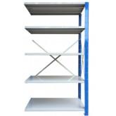 ชั้นวางสต๊อกสินค้า micro rackไมรโครแร็คMi501801805N ลึก500x1800x1800 มม.5ระดับชั้น(ชุดต่อ)