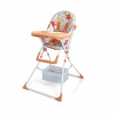 เก้าอี้ทานข้าวเด็ก มี safety lock เข็มขัดนิรภัย 5 จุด รับน้ำหนัก 15 กิโลกรัม (6-18 เดือน) - สีส้ม