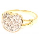 วันเดียวเท่านั้น 299บาท แหวนหุ้มทองคำและทองคำขาวแท้แบบทูโทน หน้าแหวนลายหัวใจฝังเพชรที่หัวใจ