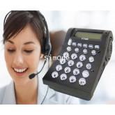 VT400 เครื่องโทรศัพท์ชนิดหูฟังสำหรับคอลล์เซนเตอร์