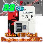 32GB TF Card Kingston microSDHC – Class 4