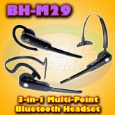 BLUE TIGER BH-M29 – 3-In-1 Multi-point Bluetooth Headset