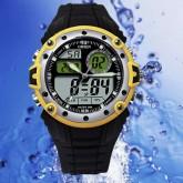 OHSEN – AD1210-5: นาฬิกาข้อมือสปอร์ต 2 ระบบ / ปลุก / จับเวลา สีดำ-เหลือง