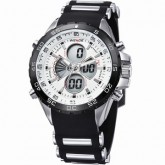WEIDE – WH-1103-2B: Dual Time Dual System Alarm Chronogragh Sport Watch