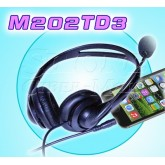 M202TD3 Biaural/Stereo Telephone Headset For Cellphone  PC