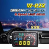 W-02X Multi-color Car Head-Up Display With Speed Warning [OBDII]