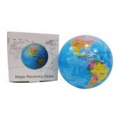 Magic Revolving ลูกโลกจำลอง ลูกโลกหมุนได้ อัตโนมัติ พร้อมไฟเรืองแสง 2สี ดำ,ฟ้า