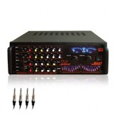 Mc Rock Stereo Power Mixer Digital Echo Karaoke รุ่น STA-DR204 - Black