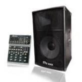 MC ROCK MIXER มิกเซอร์ รุ่น MX-400US + MC ROCK ตู้ลำโพง PA 12 นิ้ว 2 ทาง รุ่น K-812