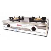 เตาแก๊สตั้งโต๊ะ 2 หัว หน้าเตาสแตนเลส หัวเตาทองเหลือง RINNAI รุ่น RT-711N (NEW)